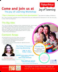 The Joy of Learning Workshop