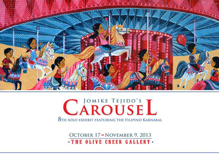 It's never too early to appreciate art. Drop by Olive Creek Gallery to visit children's book author Jomike Tejidos' solo exhibit. Your kids will love the carnival theme!