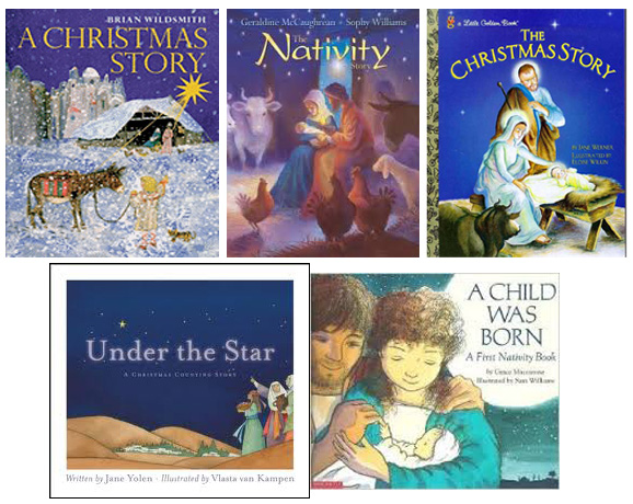 Assorted Nativity books