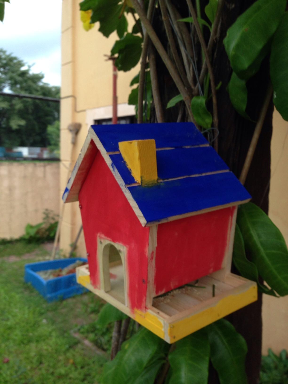 Red Tool Box Bird Feeder