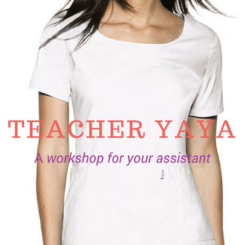 Teacher Yaya: A Workshop For Your Assistant (January 28, PM)