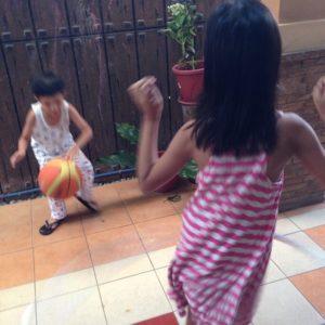 bball and hula hoop